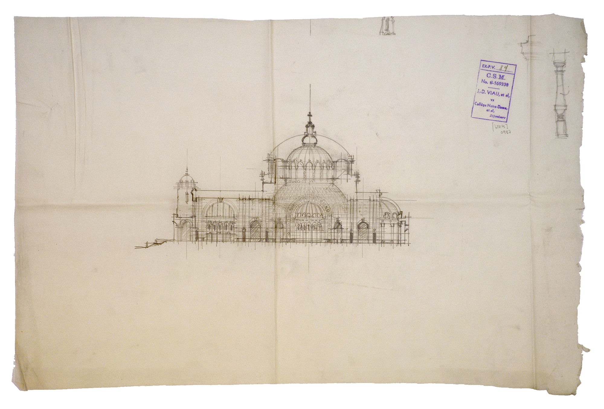 La basilique imaginaire - La crypte - document no 0987